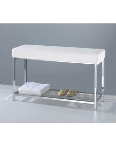 Badkamerbank XL met handdoekplateau Decor Walther wit