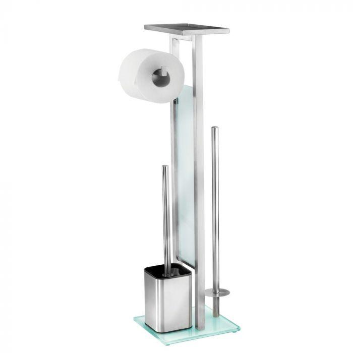 Staande Wc Rolhouder.Toiletstandaard Debar Wc Rol En Closetborstel In Een Met Plankje